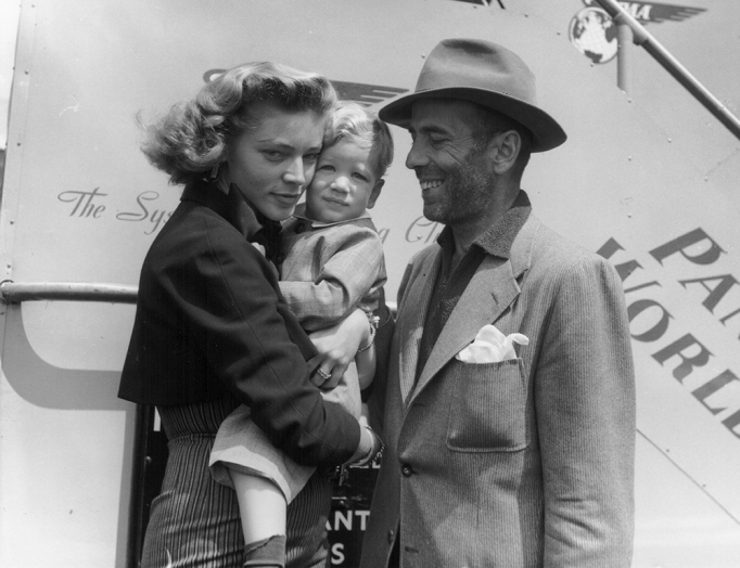 With Humphrey Bogart and son Stephen in 1951
